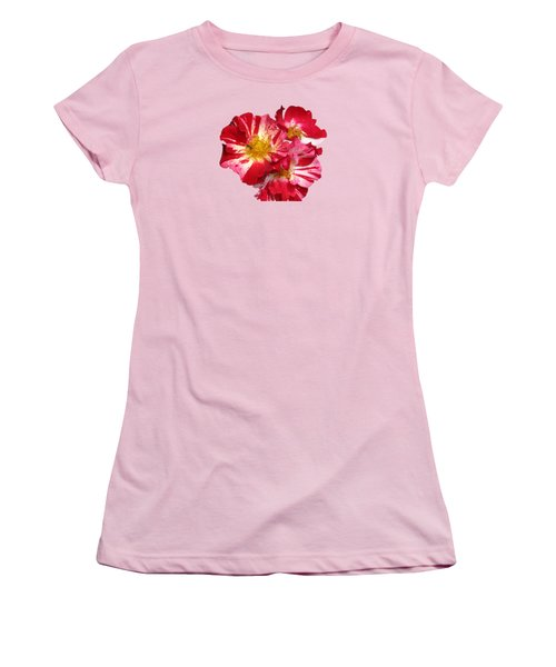 July 4th Rose Women's T-Shirt (Junior Cut) by M E Cieplinski