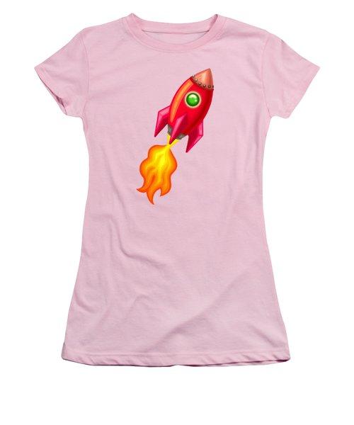 Cherry Bomb Rocket Women's T-Shirt (Junior Cut) by Brian Kemper