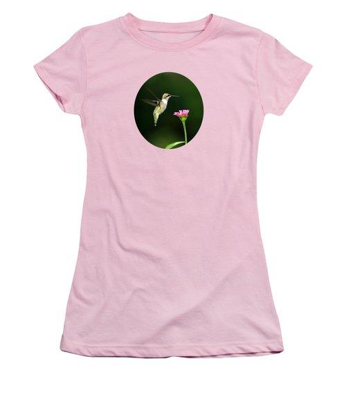 One Hummingbird Women's T-Shirt (Junior Cut) by Christina Rollo