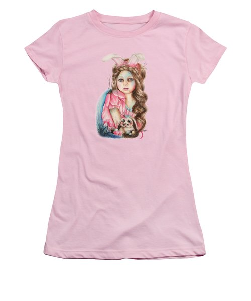 Only Friend In The World - Bunny Women's T-Shirt (Junior Cut) by Sheena Pike