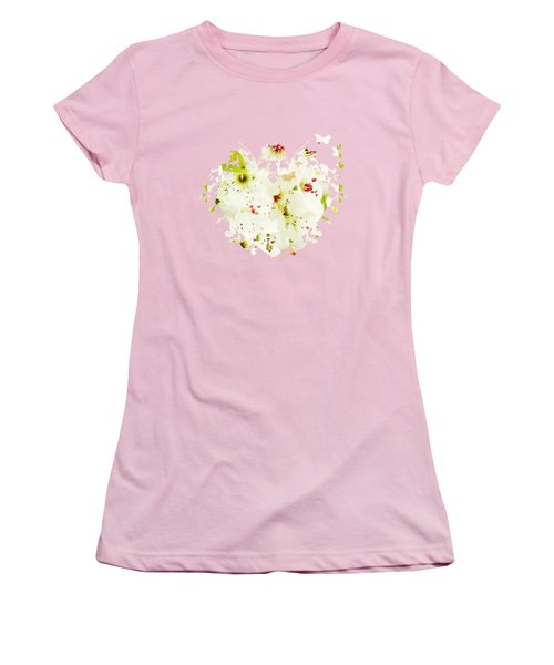 Pretty Pear Petals Women's T-Shirt (Junior Cut) by Anita Faye