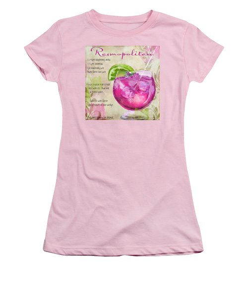 Rasmopolitan Mixed Cocktail Recipe Sign Women's T-Shirt (Junior Cut) by Mindy Sommers