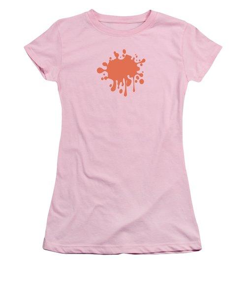 Salmon Color Accent Decor Women's T-Shirt (Junior Cut) by Garaga Designs
