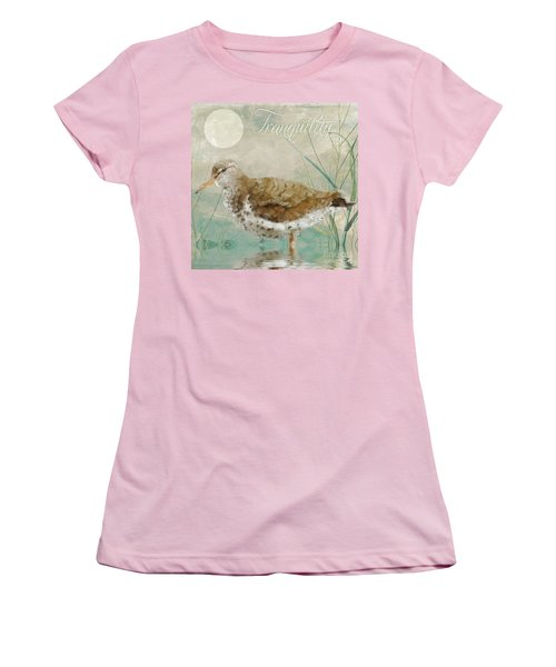 Sandpiper II Women's T-Shirt (Junior Cut) by Mindy Sommers