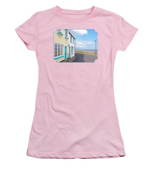 Sunny Outlook - Southwold Seafront Women's T-Shirt (Junior Cut) by Gill Billington