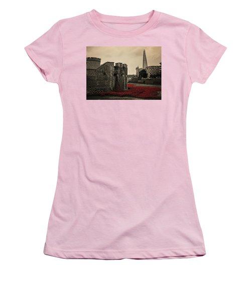 Tower Of London Women's T-Shirt (Junior Cut) by Martin Newman