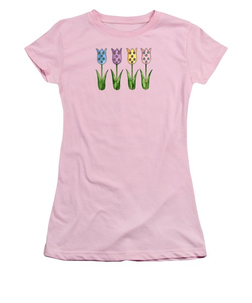 Tulip Row Women's T-Shirt (Junior Cut) by Shelley Wallace Ylst