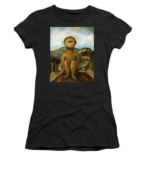 Cyclops Women's T-Shirt (Junior Cut) by Leah Saulnier The Painting Maniac