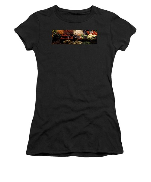 Fruits And Vegetables At A Market Women's T-Shirt (Junior Cut) by Panoramic Images