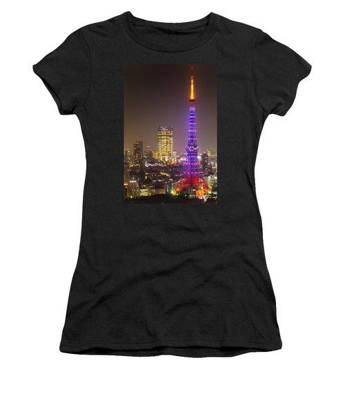 Tokyo Tower - Tokyo - Japan Women's T-Shirt (Junior Cut) by Luciano Mortula