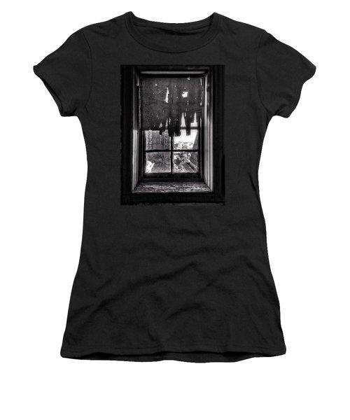 Abandoned Window Women's T-Shirt (Junior Cut) by H James Hoff