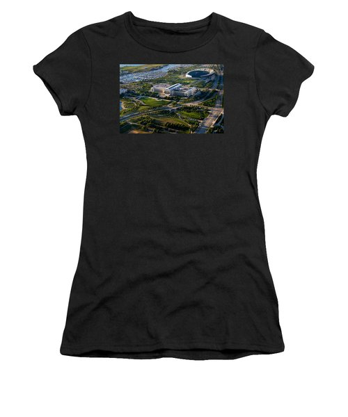 Aerial View Of The Field Museum Women's T-Shirt (Junior Cut) by Panoramic Images