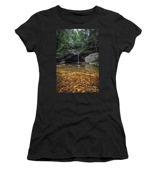 Autumn Falls Women's T-Shirt (Junior Cut) by James Dean