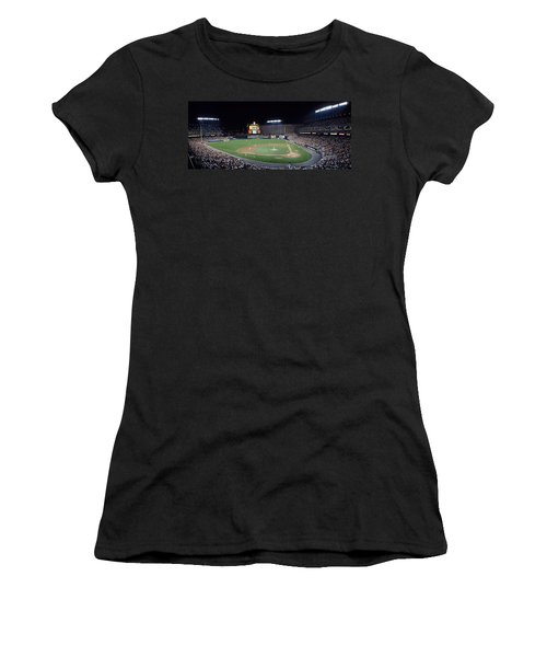 Baseball Game Camden Yards Baltimore Md Women's T-Shirt (Junior Cut) by Panoramic Images