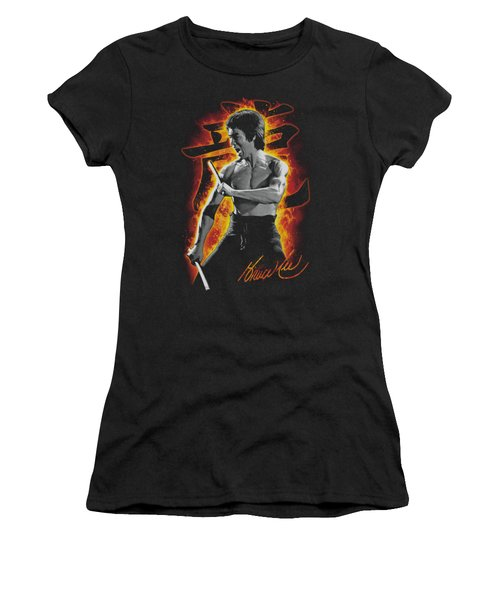 Bruce Lee - Dragon Fire Women's T-Shirt (Junior Cut) by Brand A