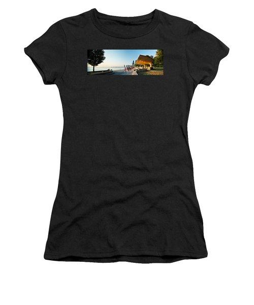 Chicago Lakefront Panorama Women's T-Shirt (Junior Cut) by Steve Gadomski