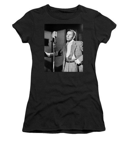 Frank Sinatra Women's T-Shirt (Junior Cut) by Mountain Dreams