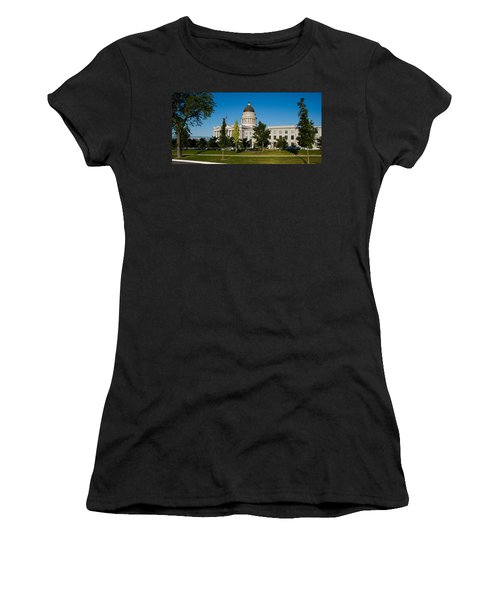 Garden In Front Of Utah State Capitol Women's T-Shirt (Junior Cut) by Panoramic Images