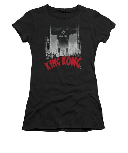 King Kong - At The Gates Poster Women's T-Shirt (Junior Cut) by Brand A