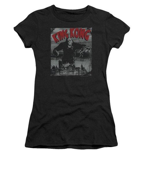 King Kong - City Poster Women's T-Shirt (Junior Cut) by Brand A