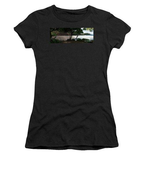 Koki Beach Hana Maui Hawaii Women's T-Shirt (Junior Cut) by Sharon Mau