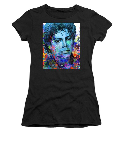 Michael Jackson 14 Women's T-Shirt (Junior Cut) by Bekim Art