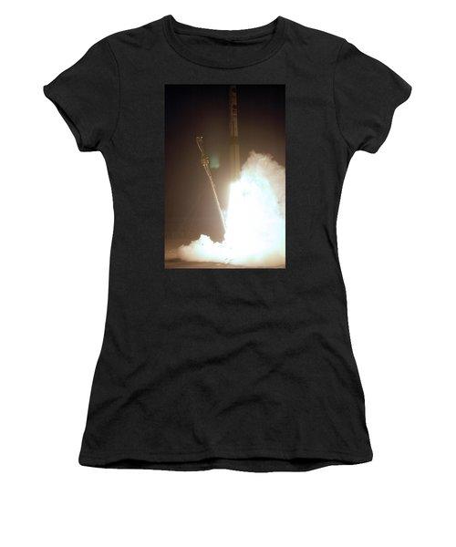 Minotaur Rocket Launch Women's T-Shirt (Junior Cut) by Science Source
