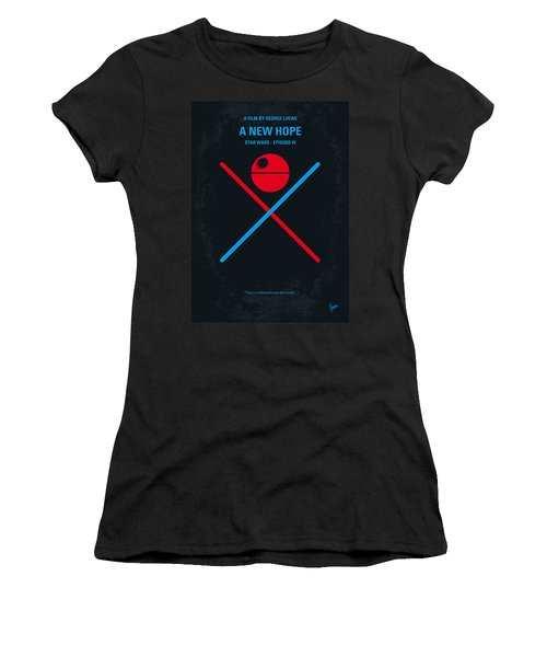No154 My Star Wars Episode Iv A New Hope Minimal Movie Poster Women's T-Shirt (Junior Cut) by Chungkong Art
