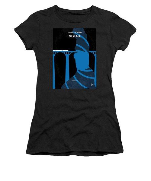 No277-007-2 My Skyfall Minimal Movie Poster Women's T-Shirt (Junior Cut) by Chungkong Art