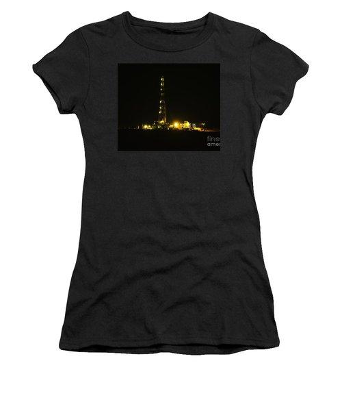 Oil Rig Women's T-Shirt (Junior Cut) by Jeff Swan