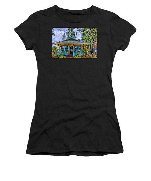 Pele's Lanai Island Hawaii Women's T-Shirt (Junior Cut) by DJ Florek