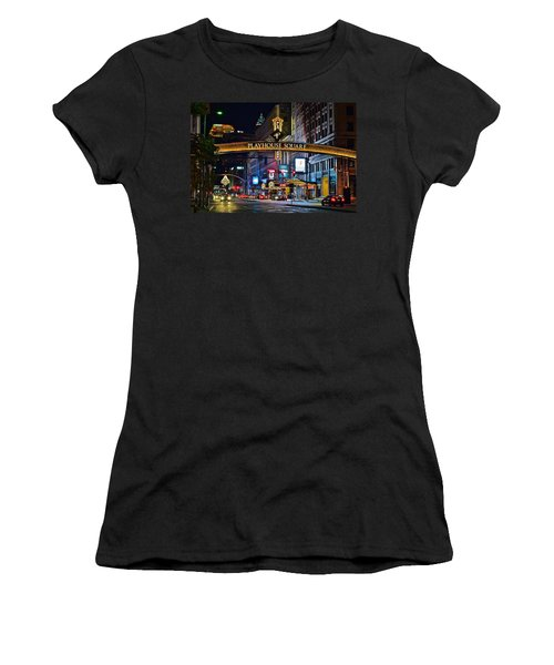 Playhouse Square Women's T-Shirt (Junior Cut) by Frozen in Time Fine Art Photography
