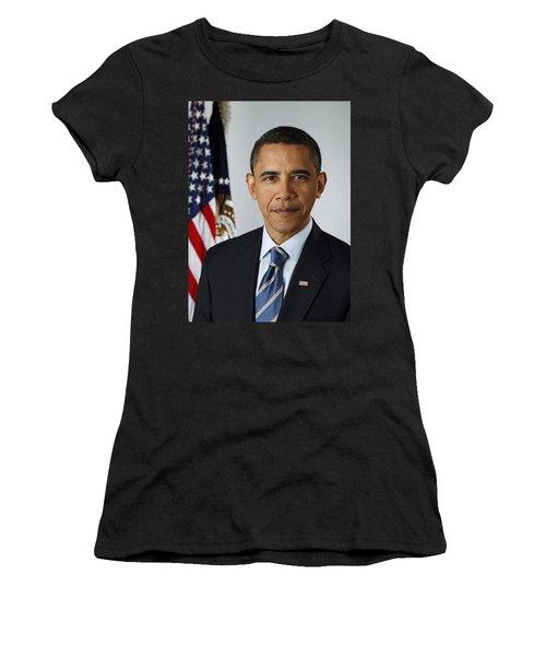 President Barack Obama Women's T-Shirt (Junior Cut) by Pete Souza