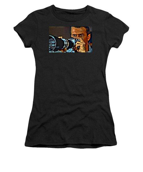 Rear Window Women's T-Shirt (Junior Cut) by Florian Rodarte