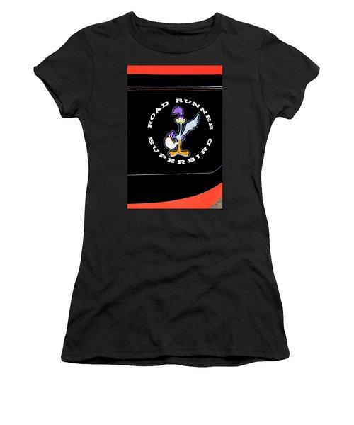 Road Runner Superbird Emblem Women's T-Shirt (Junior Cut) by Jill Reger