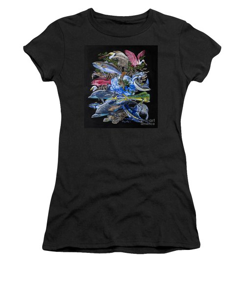 Save Our Seas In008 Women's T-Shirt (Junior Cut) by Carey Chen