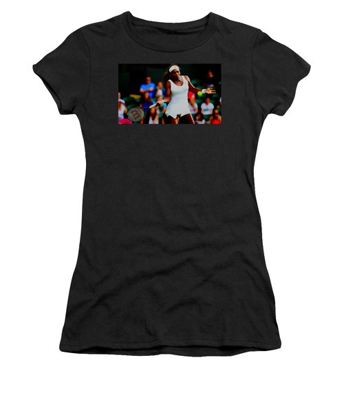 Serena Williams Making It Look Easy Women's T-Shirt (Junior Cut) by Brian Reaves
