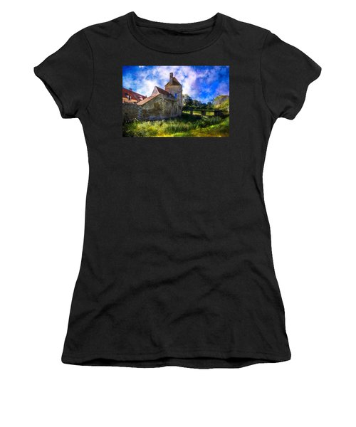 Spring Romance In The French Countryside Women's T-Shirt (Junior Cut) by Debra and Dave Vanderlaan