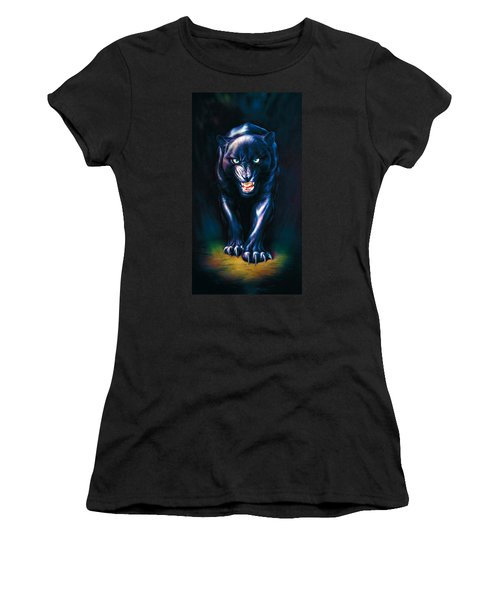 Stalking Panther Women's T-Shirt (Junior Cut) by Andrew Farley