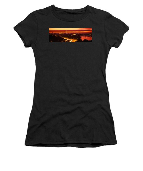 Sunset, Aerial, Washington Dc, District Women's T-Shirt (Junior Cut) by Panoramic Images