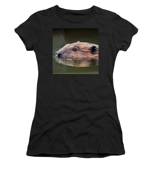 The Beaver Square Women's T-Shirt (Junior Cut) by Bill Wakeley
