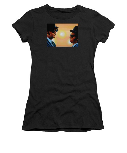 The Blues Brothers Women's T-Shirt (Junior Cut) by Paul Meijering