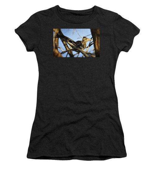 Roadrunner Up A Tree Women's T-Shirt (Junior Cut) by Saija  Lehtonen