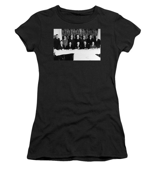 Sports Luncheon, 1930 Women's T-Shirt (Junior Cut) by Granger