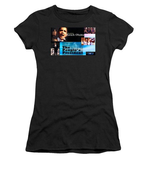 The People's President Women's T-Shirt (Junior Cut) by Terry Wallace
