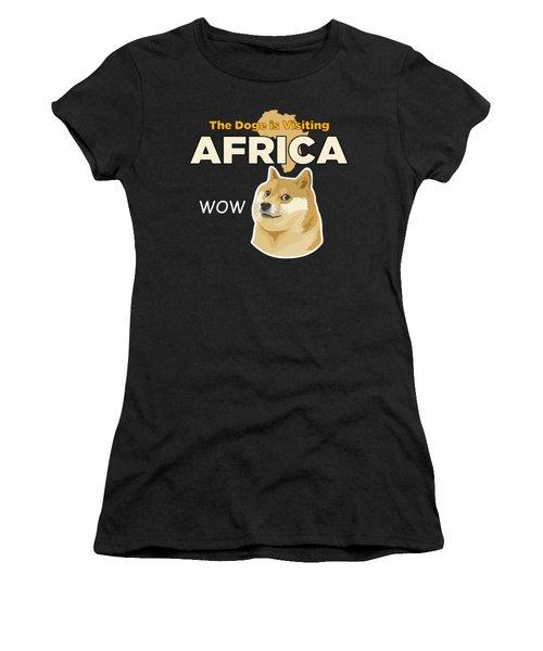 Africa Doge Women's T-Shirt (Junior Cut) by Michael Jordan