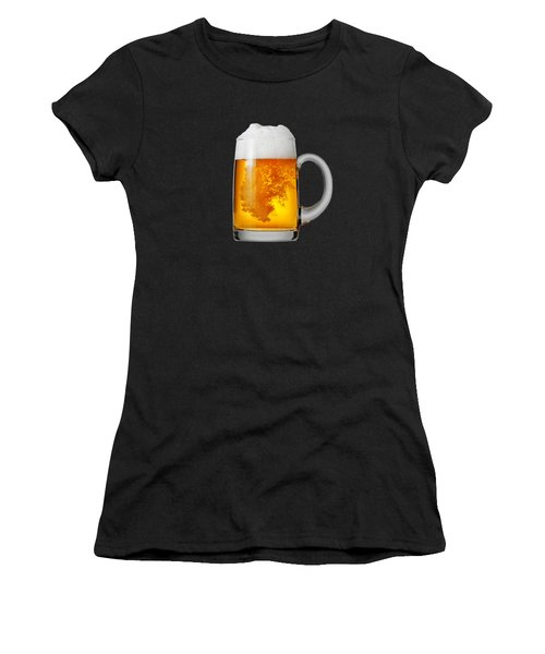 Glass Of Beer Women's T-Shirt (Junior Cut) by T Shirts R Us -