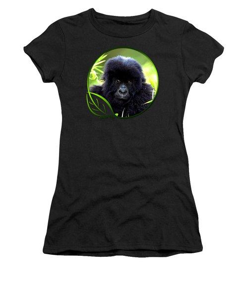 Baby Gorilla Women's T-Shirt (Junior Cut) by Dan Pagisun
