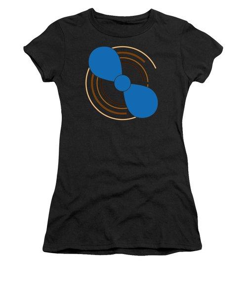 Blue Propeller Women's T-Shirt (Junior Cut) by Frank Tschakert