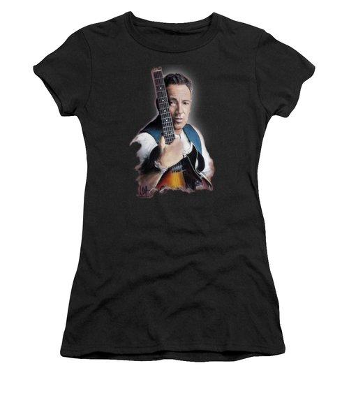 Bruce Springsteen Women's T-Shirt (Junior Cut) by Melanie D